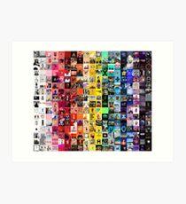 Musik-Collage Kunstdruck