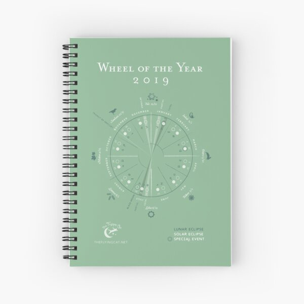 Wheel of the Year Spiral Notebook