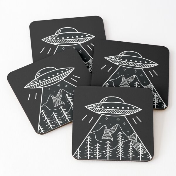 UFO Inverse Coasters (Set of 4)