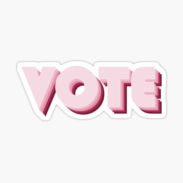 Pink-Red Vote Sticker