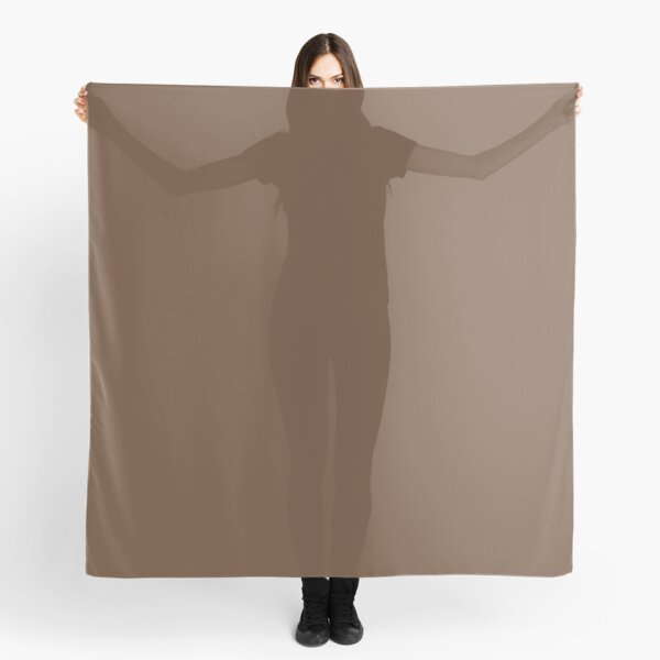 Classic Brown Coffee Simple Solid Color Scarf