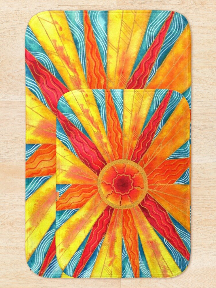 Alternate view of Sunburst Bath Mat