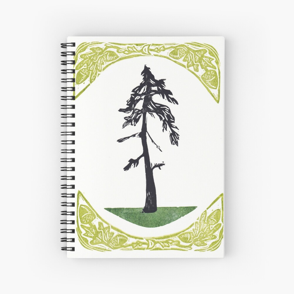 Proud Pine Spiral Notebook