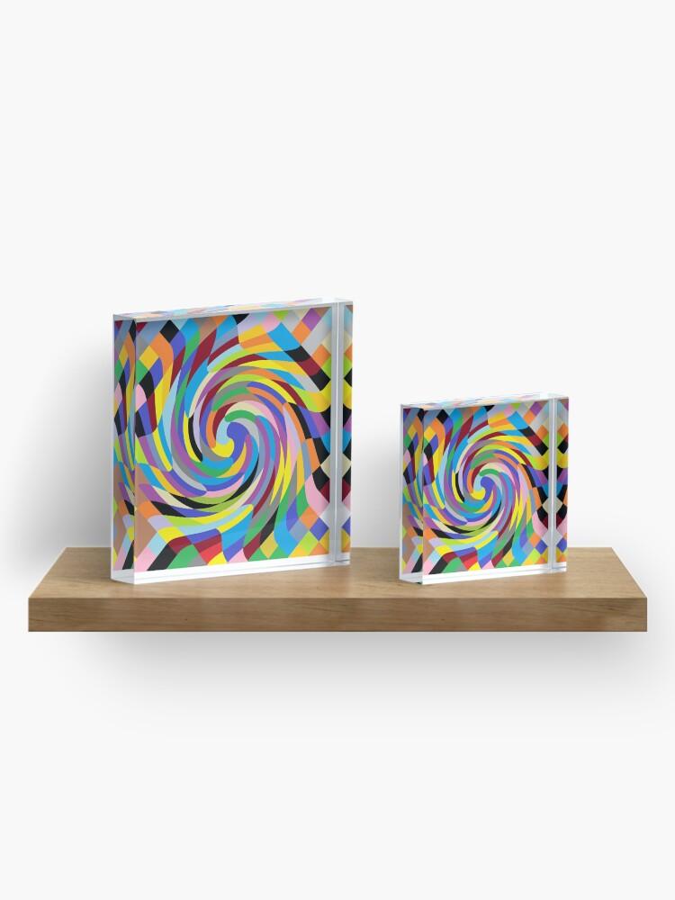 Alternate view of Psychedelic art, Art movement Acrylic Block