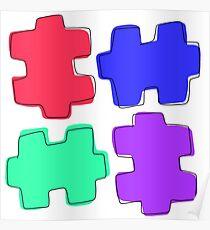 Puzzle Pieces Poster