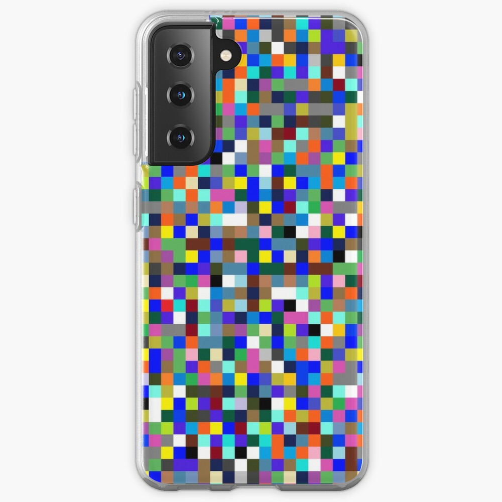 #Design, #pattern, #illustration, #art, abstract, square, pixel, color image Case & Skin for Samsung Galaxy