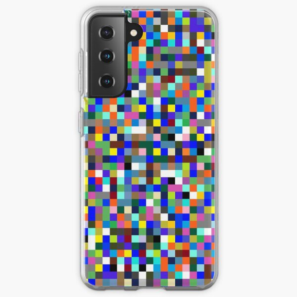 #Design, #pattern, #illustration, #art, abstract, square, pixel, color image Samsung Galaxy Soft Case