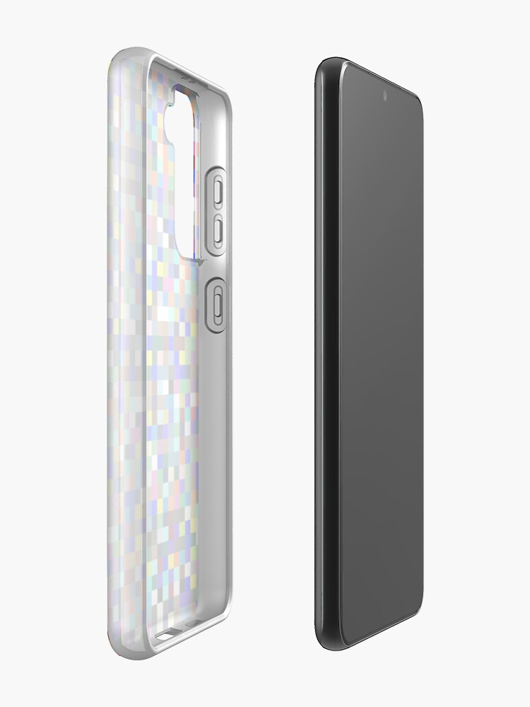 Alternate view of #Design, #pattern, #illustration, #art, abstract, square, pixel, color image Case & Skin for Samsung Galaxy