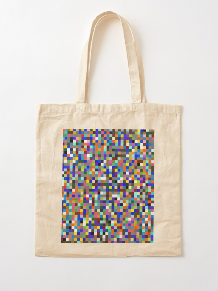 Alternate view of #Design, #pattern, #illustration, #art, abstract, square, pixel, color image Tote Bag