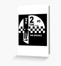 2 Tone Records - The Specials Label Greeting Card