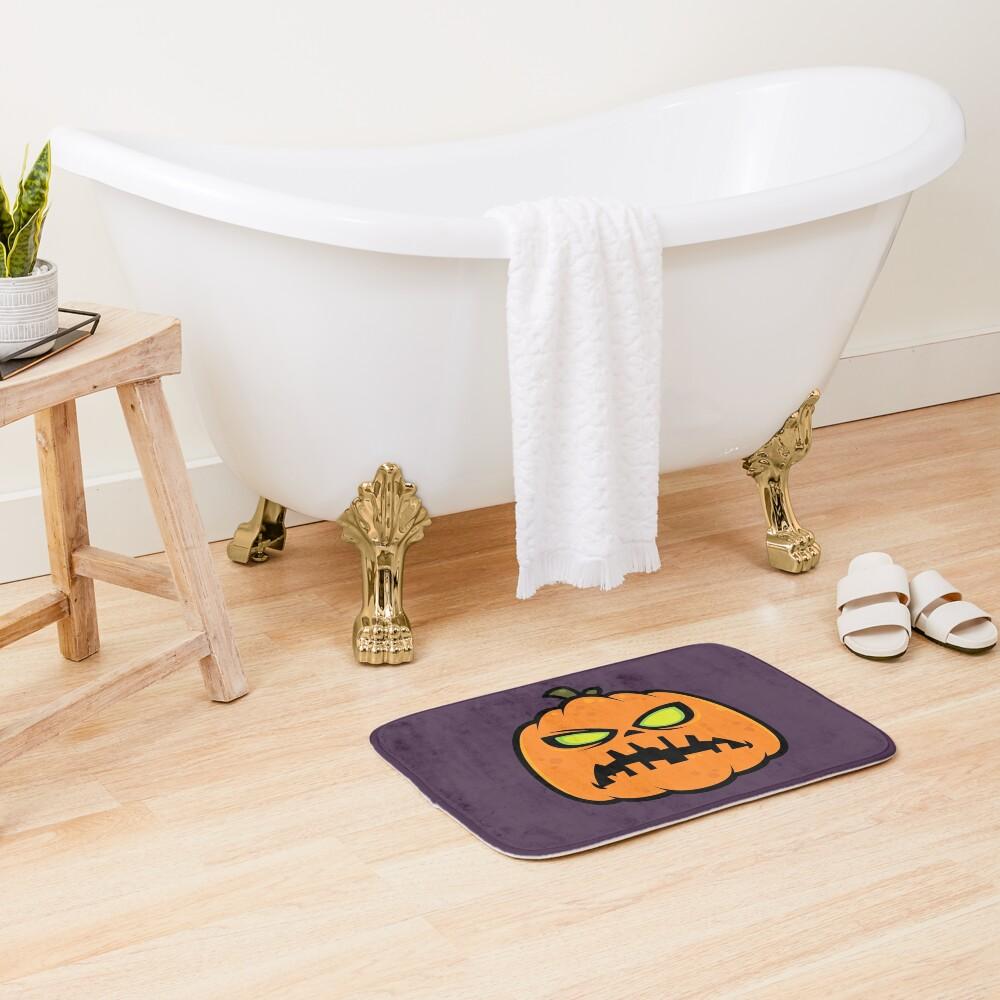 Pumpkin Zombie Bath Mat