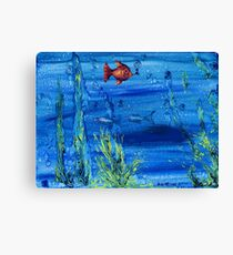 Red fish blue fish Canvas Print