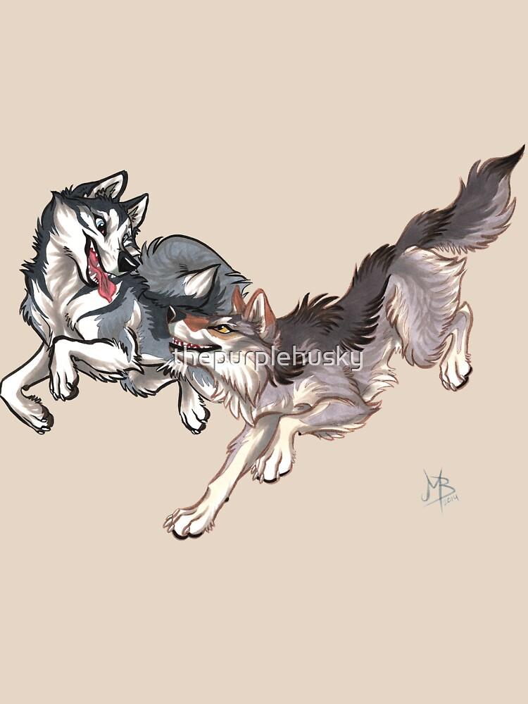 Lookalikes: Husky & Wolf by thepurplehusky