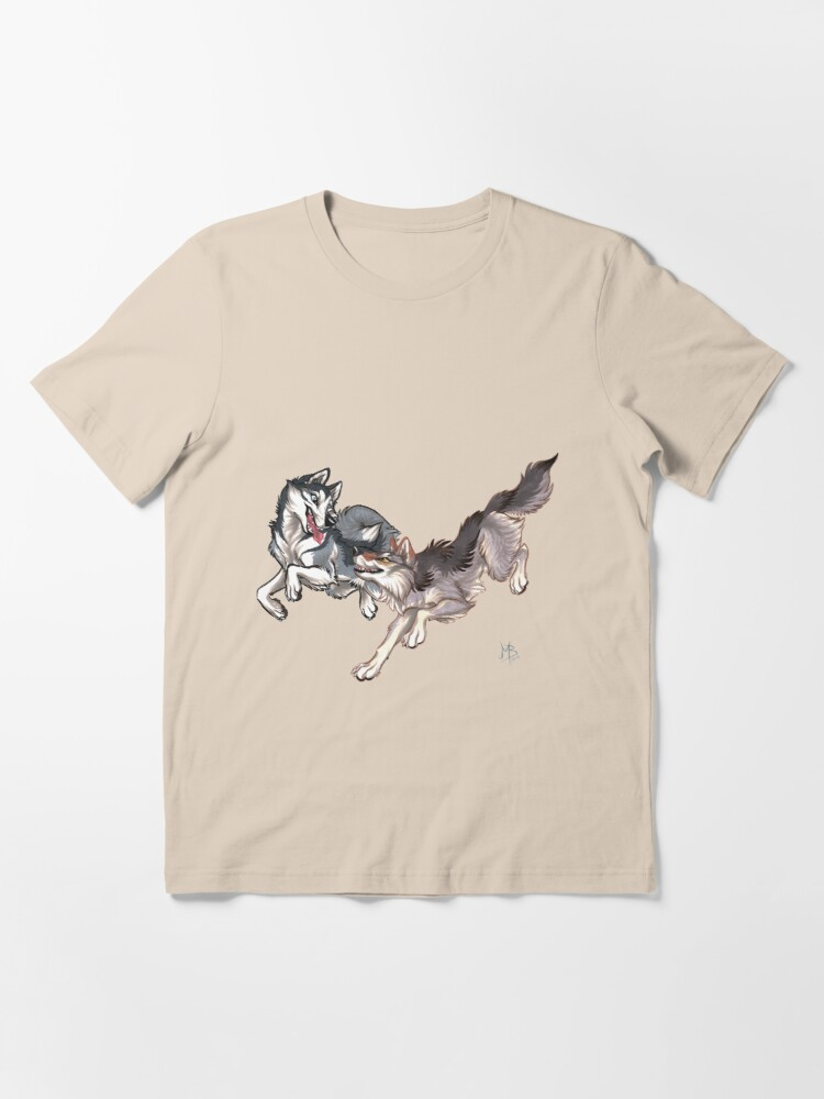 Alternate view of Lookalikes: Husky & Wolf Essential T-Shirt