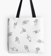 Harry Styles Shirt Pattern - Hands  Tote Bag