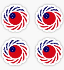Samoan American Multinational Patriot Flag Series Sticker