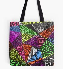 Abstract Fluoro Geometric 1  Tote Bag