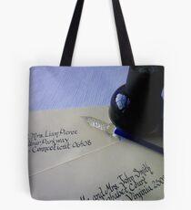Calligraphy Dreams Tote Bag