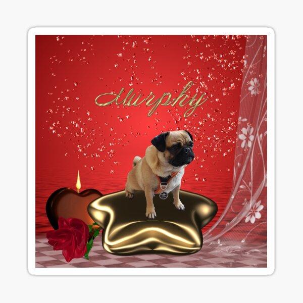 Murphy auf Stern Sticker
