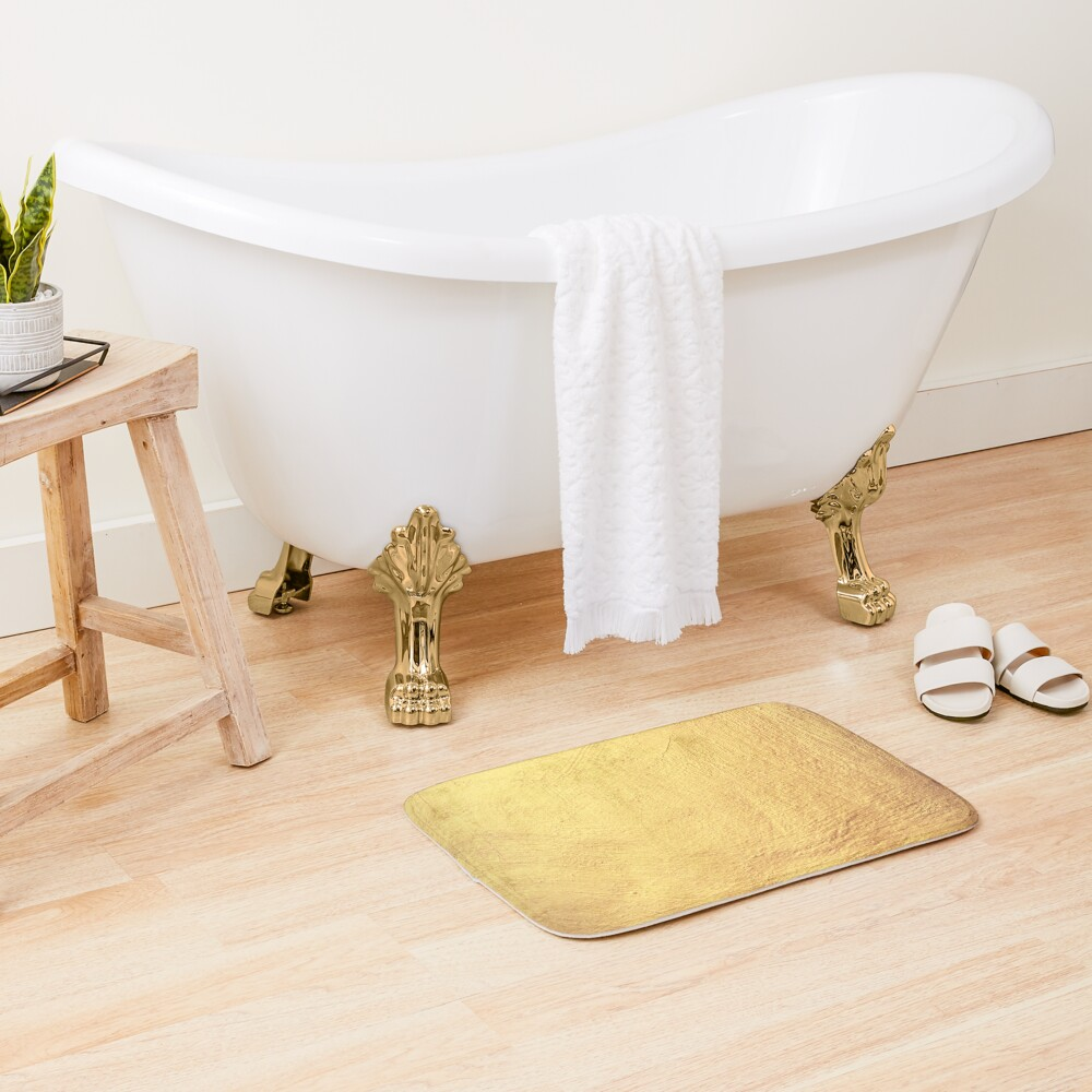 Champagne Gold Metallic Foil Bath Mat