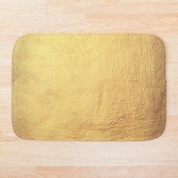 Champagne Gold Metallic Foil Bath Mat