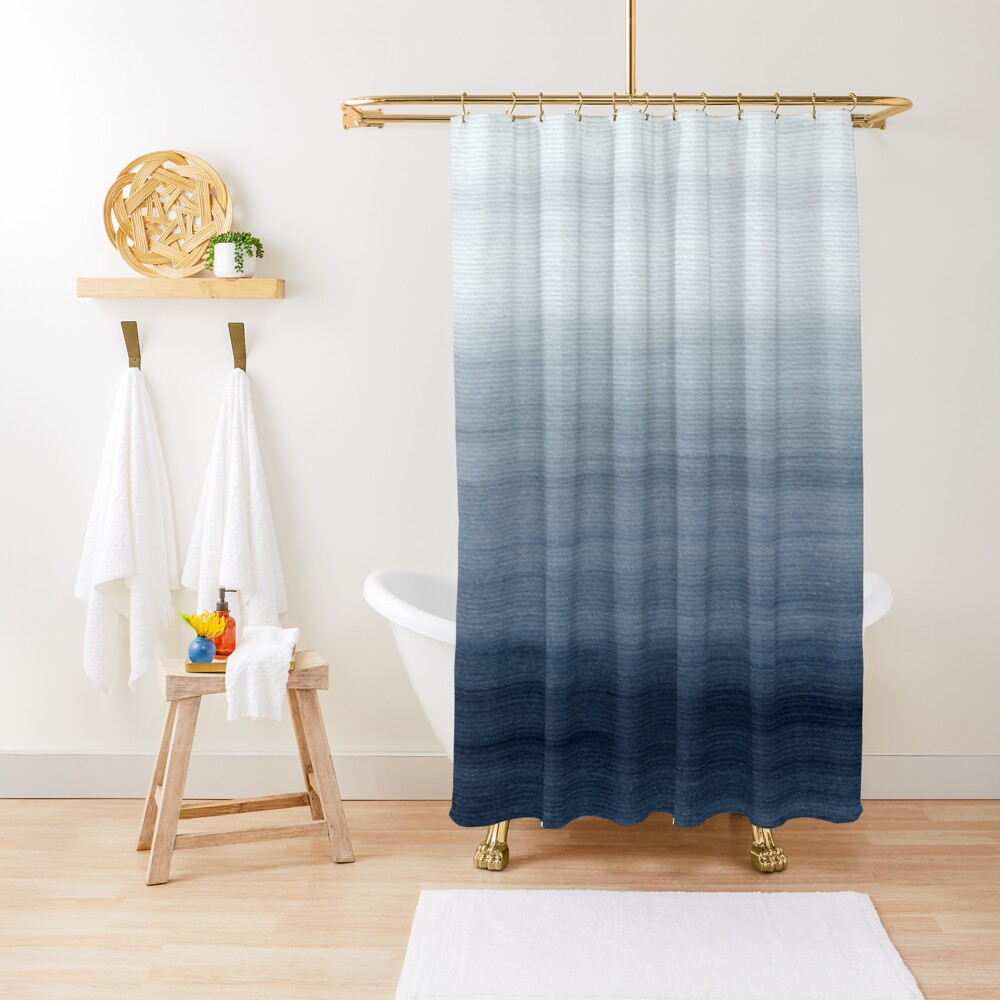 Ocean Watercolor Painting No.2 Shower Curtain