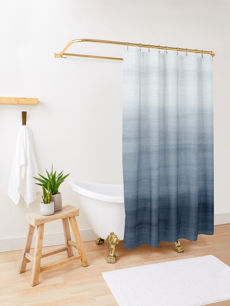Alternate view of Ocean Watercolor Painting No.2 Shower Curtain