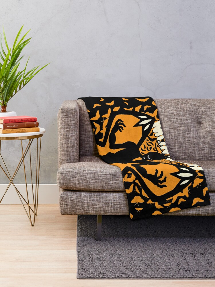 Alternate view of The Mighty Monarch - Venture Bros Team Monarch Throw Blanket