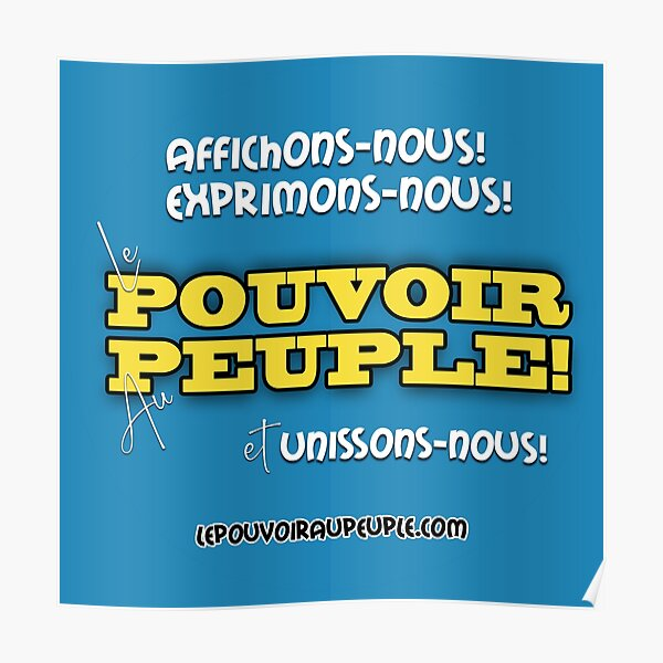 LE POUVOIR APPARTIENT AU PEUPLE! Poster
