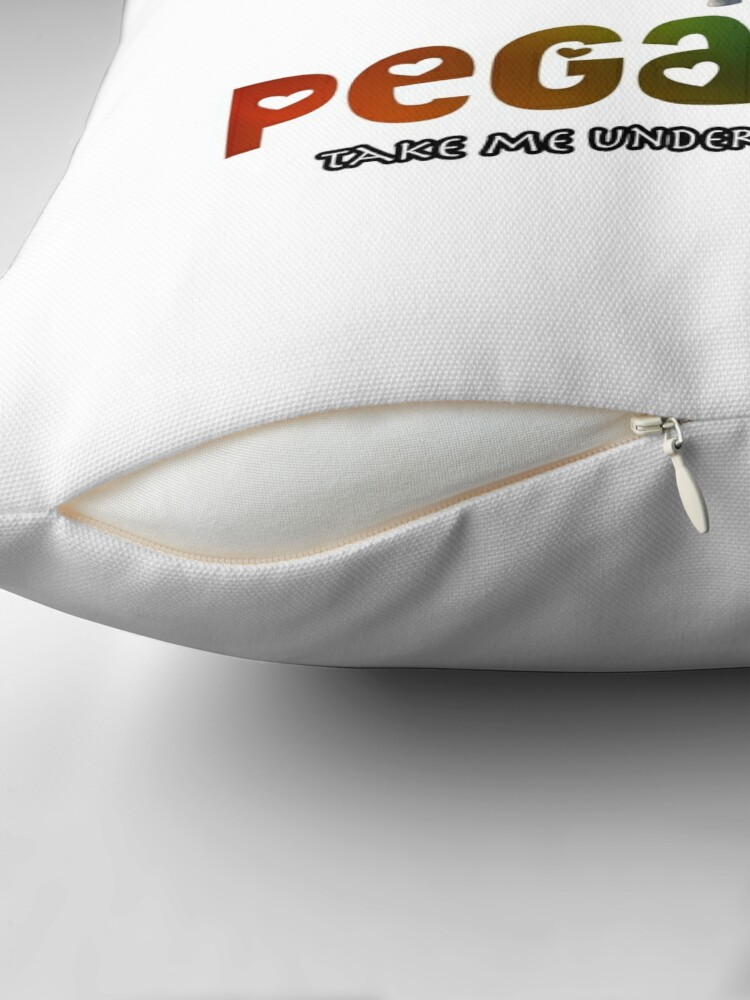 Alternate view of Pegasus - Take me under your wing Throw Pillow