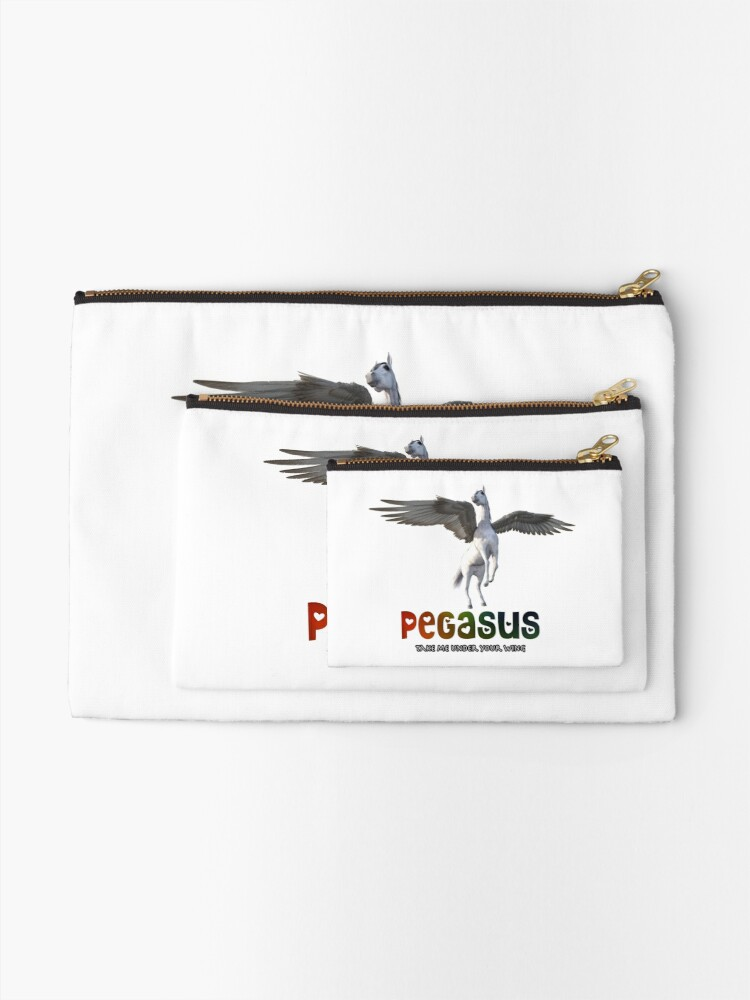 Alternate view of Pegasus - Take me under your wing Zipper Pouch