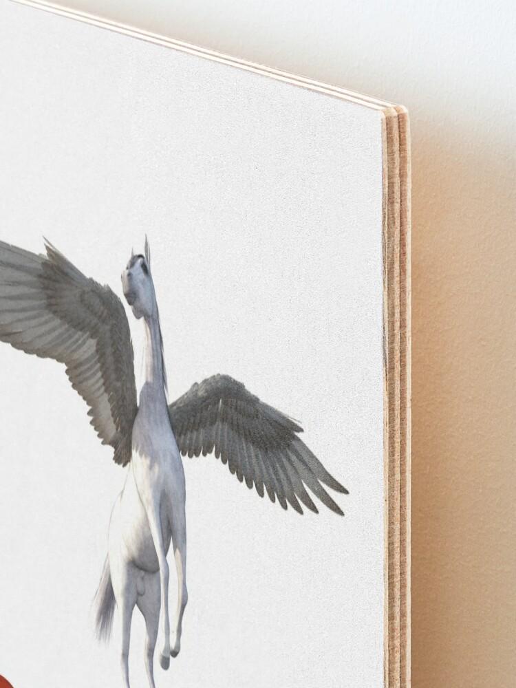 Alternate view of Pegasus - Take me under your wing Mounted Print