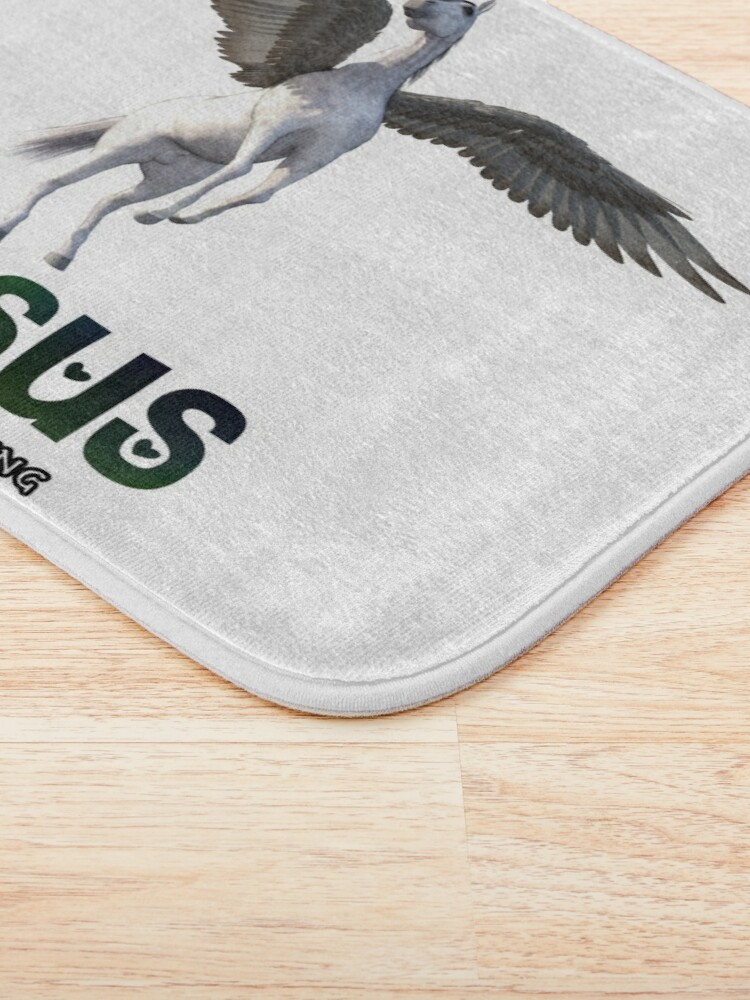 Alternate view of Pegasus - Take me under your wing Bath Mat