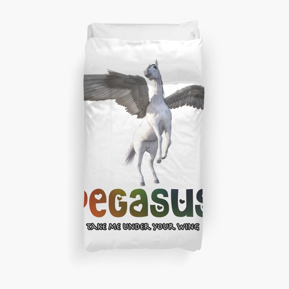 Pegasus - Take me under your wing Duvet Cover