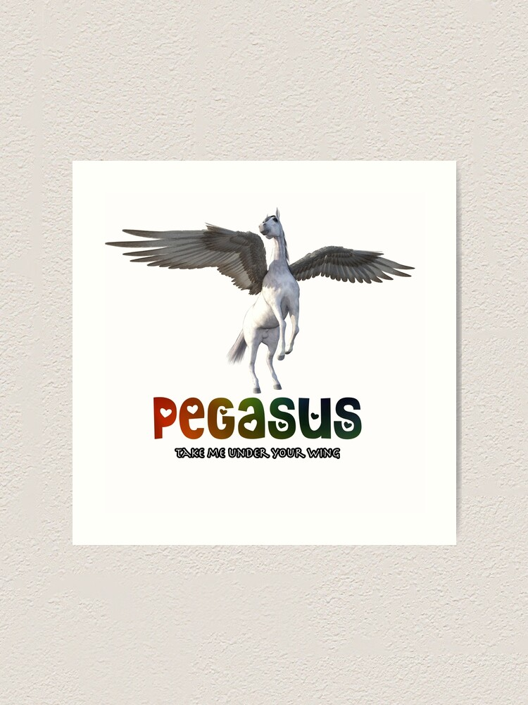 Alternate view of Pegasus - Take me under your wing Art Print