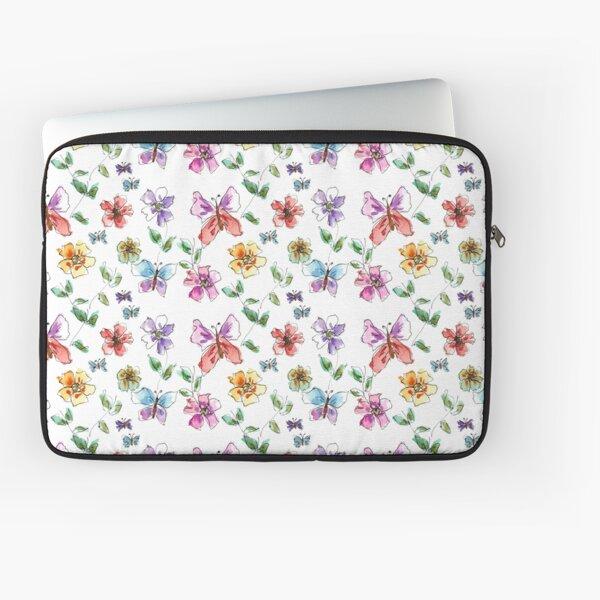Butterflies + Flowers = Butterflowers Laptop Sleeve