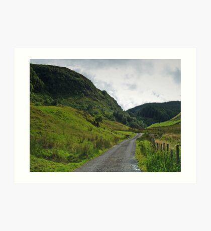 The Road Through Glen Feochan Art Print