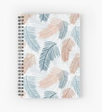 Tropical, feathery leaves Spiral Notebook