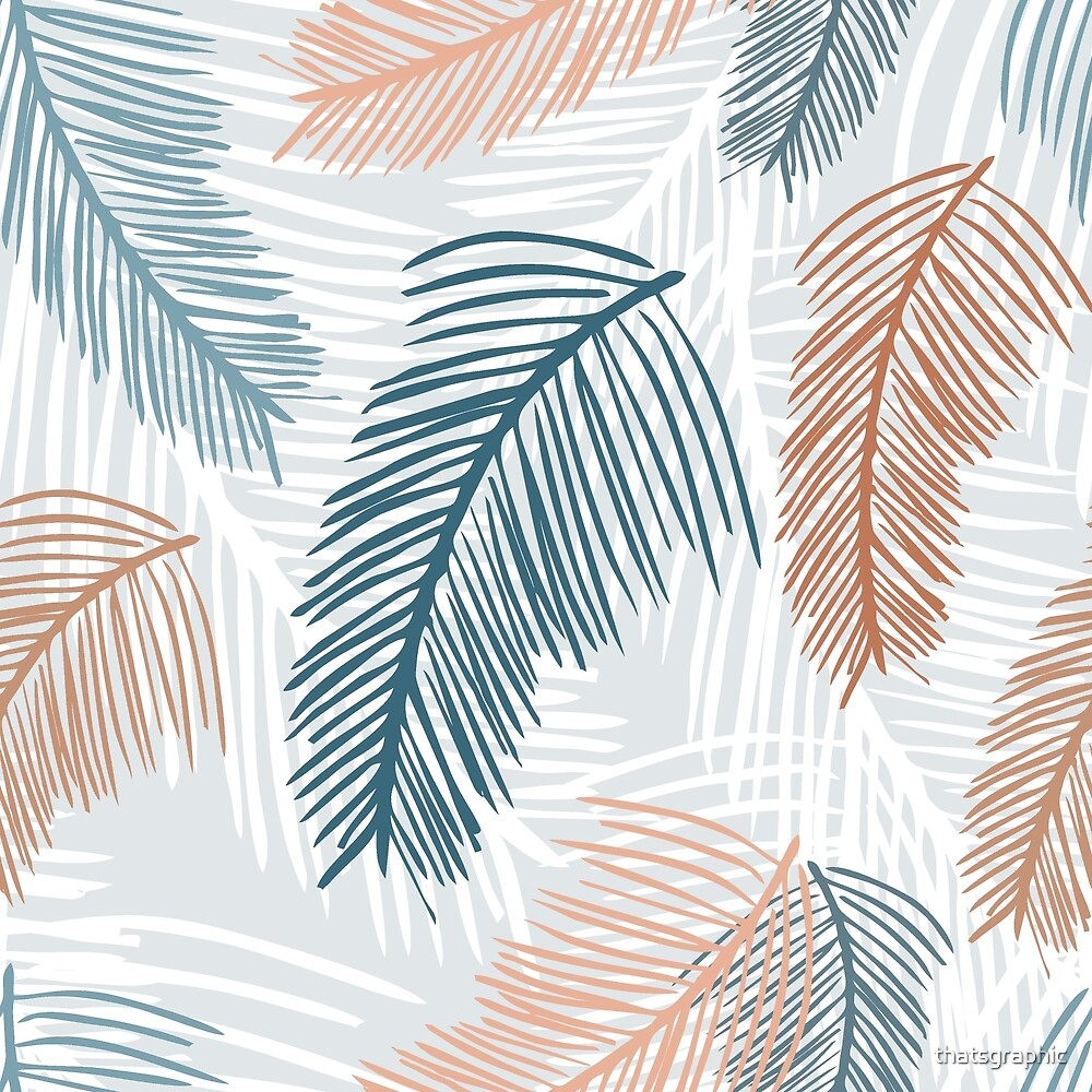 Tropical, feathery leaves by thatsgraphic