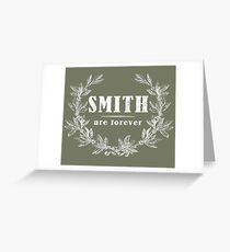 SURNAME - SMITH on BLACK Greeting Card