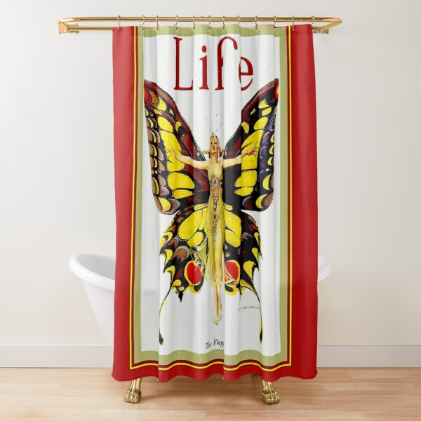 LIFE : Vintage 1922 Flapper Advertising Print Shower Curtain