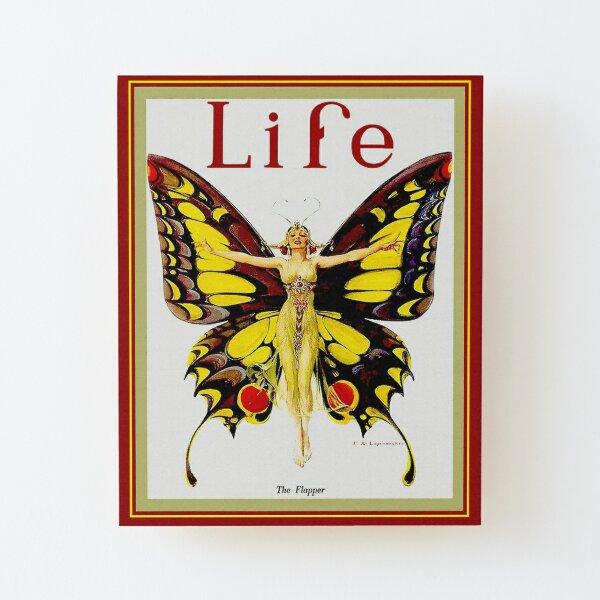 LIFE : Vintage 1922 Flapper Advertising Print Wood Mounted Print