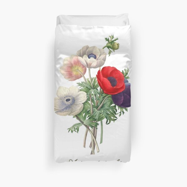Anemone illustration Duvet Cover