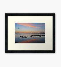 Tuggerah Lake 22-10-10 ( sunset ) Framed Print
