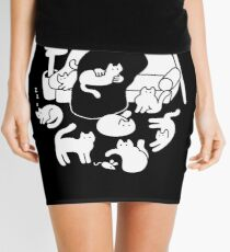 Death And His Cats Mini Skirt