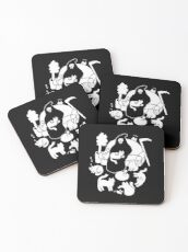 Death And His Cats Coasters