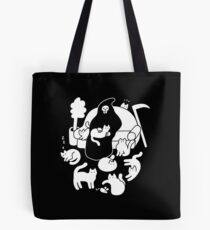 Death And His Cats Tote Bag