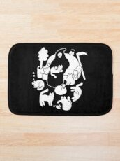 Death And His Cats Bath Mat