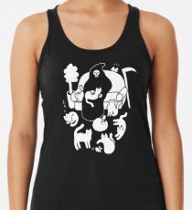 Death And His Cats Racerback Tank Top