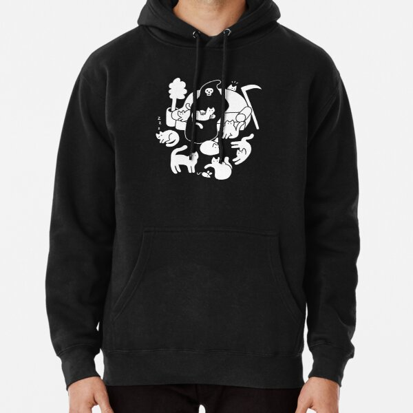 Death And His Cats Pullover Hoodie
